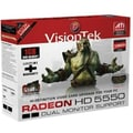 VisionTek® 900331 Radeon HD 5550 GPU Graphic Card With ATI chipset, 1 GB DDR2 SDRAM