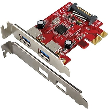 VisionTek® 900598 2 Port USB 3.0 PCIe Expansion Card