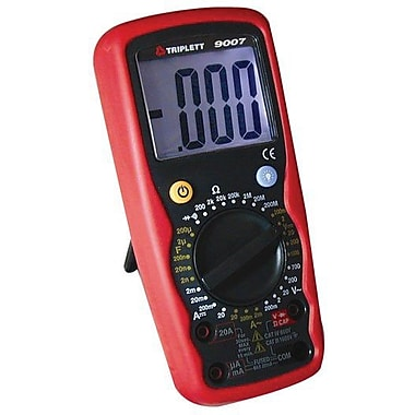 Triplett 9007 Digital Multimeter With Capacitance Backlit Display Case