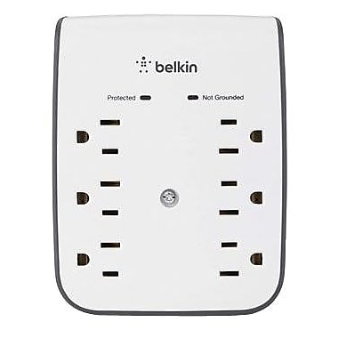 Belkin® SurgePro BV106050-CW 6-Outlets 900 Joules USB Charging Surge Protector