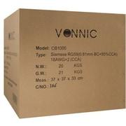 Vonnic CB1000W White Siamese Cable, 1000'(L)