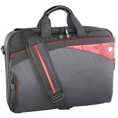 V7® CCD1-9N 16.1in. Edge Laptop Case, Black/Red