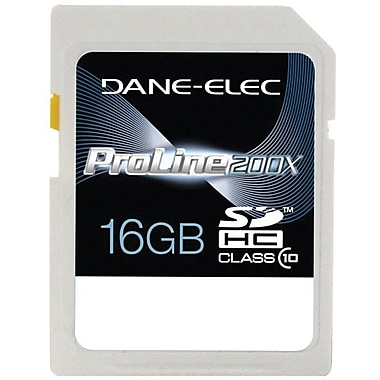 Dane-Elec DA-SD10 Secure Digital High Capacity Flash Memory Card, 16GB