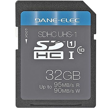 Dane-Elec DA-SDHC10 Secure Digital High Capacity Flash Memory Card, 32GB