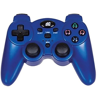 DreamGEAR® PS3 Radium Wireless Controller With Dual Rumble Motors, Metallic Blue