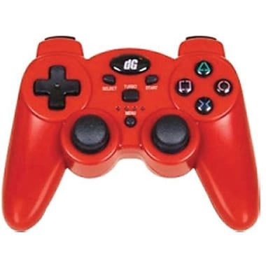 DreamGEAR® PS3 Radium Wireless Controller With Dual Rumble Motors, Metallic Red