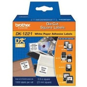 Brother® DK Paper Label, 0.9(W) x 0.9(L), White