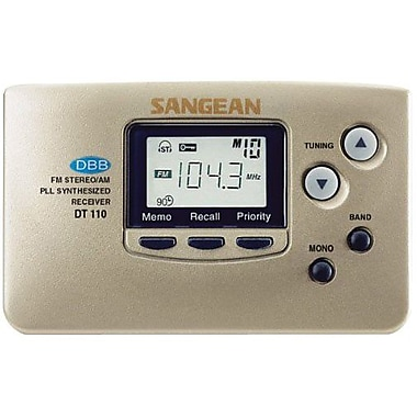 Sangean DT-110 FM/AM Pocket Radio, Champagne