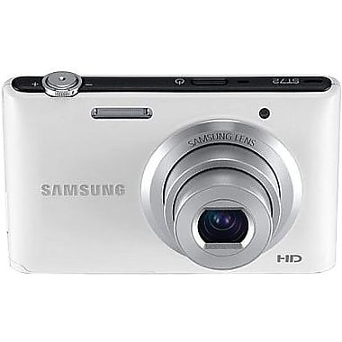 Samsung ST72 2.28in. H x 3.27in. W x 0.71in. D White Digital Camera, 16.5 Mega Pixels