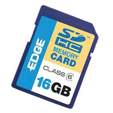 Edge™ Tech EDGDM-216306-PE Secure Digital High Capacity Flash Memory Card, 16GB