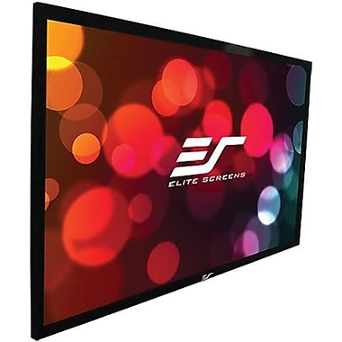 Elite Screens™ SableFrame Series 150in. Wall Mount Projector Screen, 16:9, Black Aluminum Casing