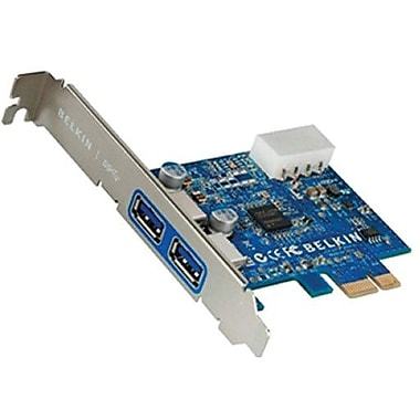 Belkin® F4U023B Super Speed USB 3.0 PCIe Add-In Card, 2 Ports