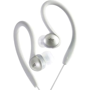 JVC HAEBX5 Sports Clip Headphone, Silver