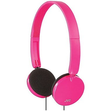 JVC HAS140P Stereo On-Ear Headband Headphone, Pink
