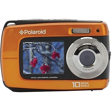 Vivitar IF045 2 1/2in. H x 4in. W x 3/4in. D Orange Still Digital Camera, 14 Mega Pixels