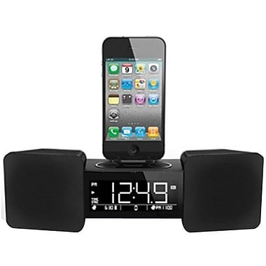 iLuv® IMM155BLK Vibro Classic II Digital Alarm Clock Dock With Shaker For iPhone 3G, 3GS, 4
