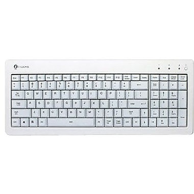 Buslink® I-Rocks KR-6820E-WH LED Compact LED Back-lit Slim USB Keyboard