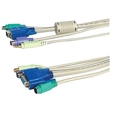 Startech.com® Beige 4-in-1 PS/2 KVM Extension Cable, 6'(L)
