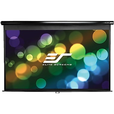 Elite Screens™ Manual Series 84in. Pull Down Wall and Ceiling Projector Screen, 16:9, Black Casing