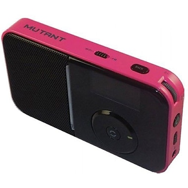 Mutant™ M-Wavio Pocket Internet and FM Radio, Bubblegum