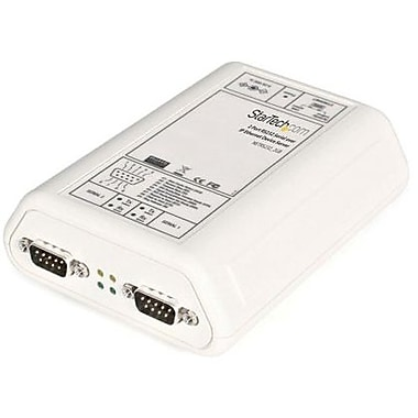 Startech.com® NETRS232-2 RS232 Serial Over IP Ethernet Device Server, 2 Ports