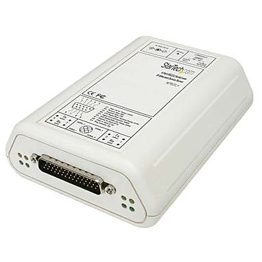 StarTech NETRS232-4 RS232 Serial Over IP Ethernet Device Server, 4 Ports