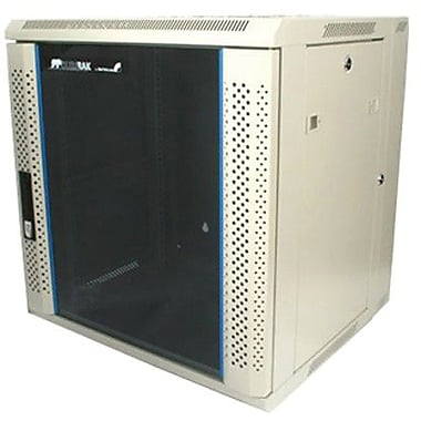 Startech.Com® RK1219WALH Hinged Wall Mount Server Rack Cabinet With Vented Glass Door
