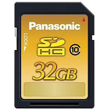Panasonic® RP-SDW32GP1K Secure Digital High Capacity Flash Memory Card, 32GB