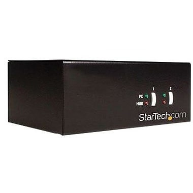 Startech.com® Starview™ SV231DD USB/PS2 KVM Switch, 2 Ports