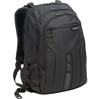 Targus® Spruce EcoSmart™ TBB019US 17in. Backpack, Black/Green