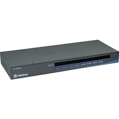 TRENDnet® TK-1603R USB/PS2 KVM Switch, 16 Ports