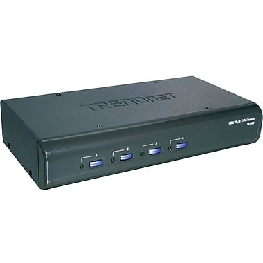 TRENDnet® TK-423K USB/PS2 KVM Switch Kit, 4 Ports