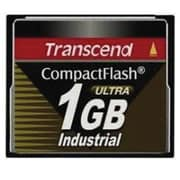 Transcend® TS1GCF100I Ultra Speed Industrial CompactFlash Memory Card, 1GB