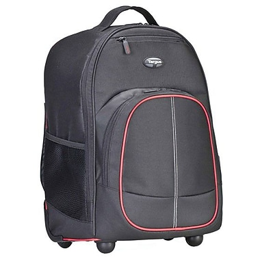 Targus® TSB75001US Compact Rolling Backpack For 16in. Laptop, Black/Red