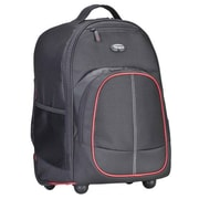 "Targus® TSB75001US Compact Rolling Backpack For 16"" Laptop, Black/Red"