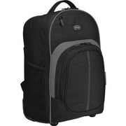 Targus® TSB750US Compact Rolling Backpack For 16 Laptop, Black