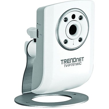 TRENDnet® TV-IP751WIC Wireless Day/Night Cloud Camera, 1/5in. CMOS