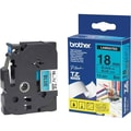 Brother® TZE 0.7in.(W) Label Tape, Black On Blue