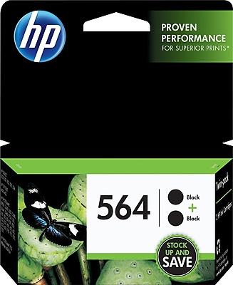 HP 564 Black Ink Cartridges C2P51FN Twin Pack