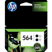 HP 564 Black Ink Cartridges (C2P51FN), Twin Pack