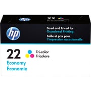 HP 22 Tricolor Economy Ink Cartridge (B3B19AN)