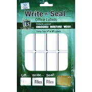"Label Shield - Write n' Seal™ Self-Laminating Office Supply Labels, 1"" x 3"", 32/Pack"