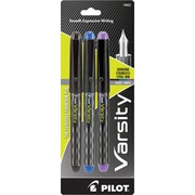 Pilot Varsity Everyday Fountain Pen, Medium Point, Assorted Colors, 3/Pack