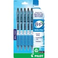 Pilot B2P Bottle to Pen Retractable Ballpoint Pens, Fine Point, Black, 5/Pack
