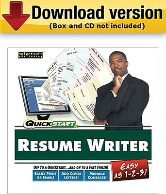 SelectSoft QuickStart Resume Maker for Windows 1 User [Download]