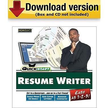 SelectSoft QuickStart Resume Maker for Windows (1-User) [Download]