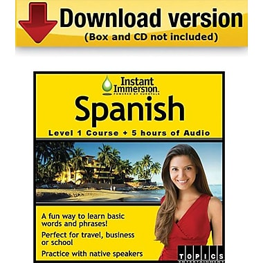 Instant Immersion Spanish Online Course + Audio Download for Windows/Mac (1-User) [Download]
