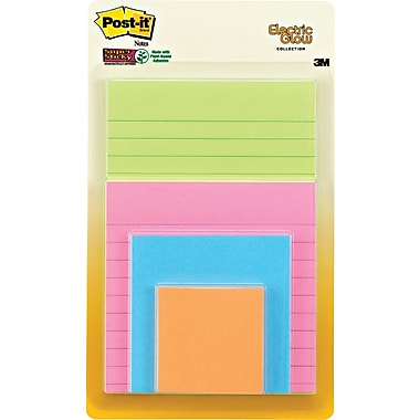 Post-it Multi-Sized  Notes, Assorted Bright