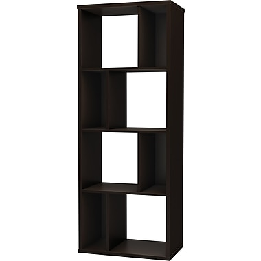 South Shore Work ID 24in. Shelving Unit, Chocolate