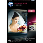 "HP® Premium Plus Inkjet Photo Paper, Soft Gloss, 4"" x 6"", 100/Pack"